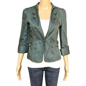 Naf Naf Paris Green Single Button Blazer Jacket 0